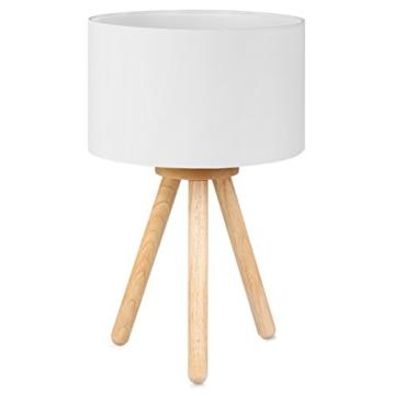 Tomons LED Nachttischlampe aus Holz, minimalistischer Stil geeignet für Schlafzimmer mit warmer, gemütlicher Atmosphäre, 4 W LED im Lieferumfang enthalten - 1