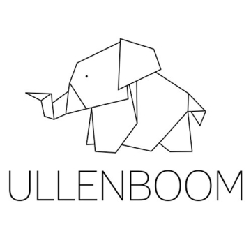 ULLENBOOM ® Wimpelkette Waldtiere Petrol (Stoff-Girlande: 1,9 m, 5 Wimpel, Dekoration für Kinderzimmer & Baby Geburtstage, Motiv: Elefanten, Sterne) - 4