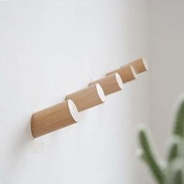Wandhaken Holz 5pcs 30mm für Bademantel Hat Kleidung Wandhalterung Haken Aufhänger Handtuch Rack Schlafzimmer Dekoration Holz Haken Mehrzweck - 1