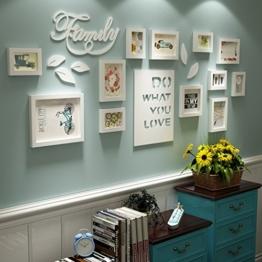 Bilderrahmen Collage Brief pastoralen schlafzimmer wohnzimmer massivholz kreative kreative foto wand ornament rahmen wand Fotorahmenwand ( Farbe : All white ) - 1