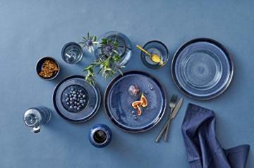 BITZ Teller, Speiseteller, Essteller aus Steinzeug, 27 cm im Durchmesser, grau/hellrot - 6