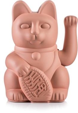 Donkey Products - Lucky Cat Pink - pinke Winkekatze | Japanische Deko-Katze in stylischem matt-Farbton 15cm hoch - 1