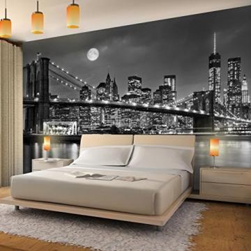 Fototapete New York Vlies Wand Tapete Wohnzimmer Schlafzimmer Büro Flur Dekoration Wandbilder XXL Moderne Wanddeko 100% MADE IN GERMANY -Stadt City NY Runa Tapeten 9101010b - 3