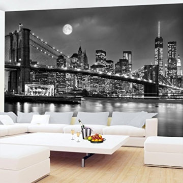Fototapete New York Vlies Wand Tapete Wohnzimmer Schlafzimmer Büro Flur Dekoration Wandbilder XXL Moderne Wanddeko 100% MADE IN GERMANY -Stadt City NY Runa Tapeten 9101010b - 4