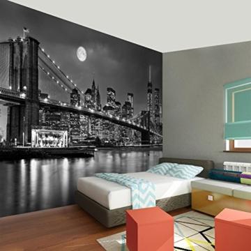 Fototapete New York Vlies Wand Tapete Wohnzimmer Schlafzimmer Büro Flur Dekoration Wandbilder XXL Moderne Wanddeko 100% MADE IN GERMANY -Stadt City NY Runa Tapeten 9101010b - 5