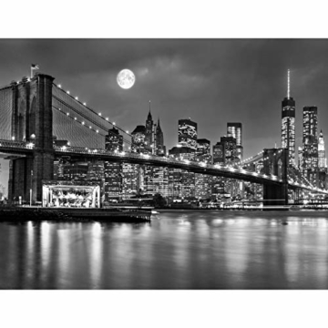 Fototapete New York Vlies Wand Tapete Wohnzimmer Schlafzimmer Büro Flur Dekoration Wandbilder XXL Moderne Wanddeko 100% MADE IN GERMANY -Stadt City NY Runa Tapeten 9101010b - 6