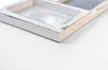 Gallery Solutions Bilderrahmen Collage 24 Fotos à 10x15 cm, Weiß Antik, Außenformat: 88,5x57x2,5 cm - 2