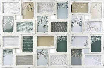 Gallery Solutions Bilderrahmen Collage 24 Fotos à 10x15 cm, Weiß Antik, Außenformat: 88,5x57x2,5 cm - 1