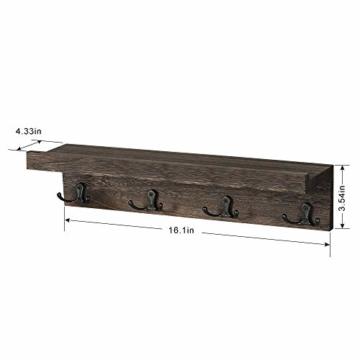 LIANTRAL Schwebende Regale Wand Schlüsselhalter 2er Set Bhk05-2a1 - 5