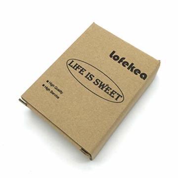 Lofekea Keramik Seifenschale, Edelstahl Seifenhalter für Bad und Dusche, Double Layer Draining Soap Box gehören Silikonmatte - 7