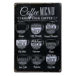 LUOEM Retro Metall Blechschild Kaffee Blechschilder - 1