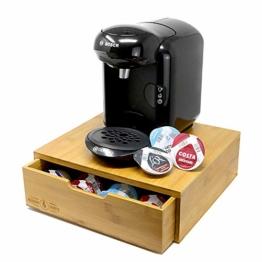 Maison & White Bambus 64 Tassimo Pod-Halter | Stilvoller Holzkapsel-Schubladen-Organizer | T-Disk Aufbewahrungs- und Holzkaffeemaschinenständer - 1