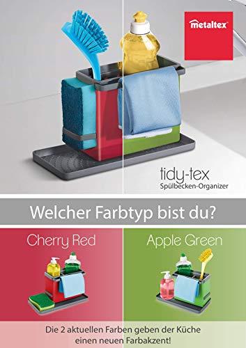 Metaltex Tidytex Spülbecken-Organizer, Kunststoff Abs, Grün/ Grau, 24 x 13 x 14 cm - 2