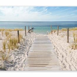 murando - Fototapete 250x175 cm - Vlies Tapete - Moderne Wanddeko - Design Tapete - Wandtapete - Wand Dekoration - Landschaft Natur Meer Strand blau beige c-A-0054-a-b - 1