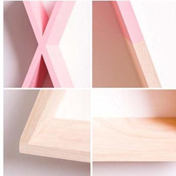 Ouken Nordic X Shaped Holz Wandregal Sofa-Hintergrund-Wand Rack-Wohnzimmer-Dekoration Wandbehang Home Regale Storage Rack - 5