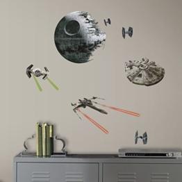 RoomMates RM - Star Wars VI Raumschiffe Wandtattoo, PVC, bunt, 29 x 13 x 2.5 cm - 1