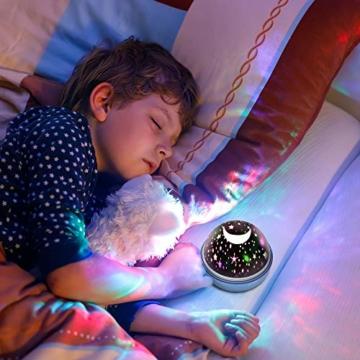 Spielzeug Junge 1-10 Jahre, Dreamingbox Sternenhimmel Projektor Nachtlicht für Kinder Spielzeug für Mädchen 1-10 Jahre 2019 Geburtstag Geschenke Mädchen 1-12 Jahre Weihnachten Geschenk für Jungen Blau - 2