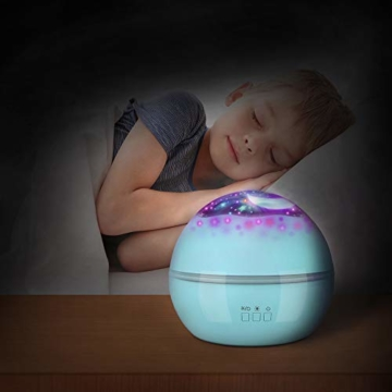 Spielzeug Junge 1-10 Jahre, Dreamingbox Sternenhimmel Projektor Nachtlicht für Kinder Spielzeug für Mädchen 1-10 Jahre 2019 Geburtstag Geschenke Mädchen 1-12 Jahre Weihnachten Geschenk für Jungen Blau - 4