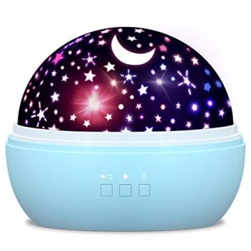 Spielzeug Junge 1-10 Jahre, Dreamingbox Sternenhimmel Projektor Nachtlicht für Kinder Spielzeug für Mädchen 1-10 Jahre 2019 Geburtstag Geschenke Mädchen 1-12 Jahre Weihnachten Geschenk für Jungen Blau - 1