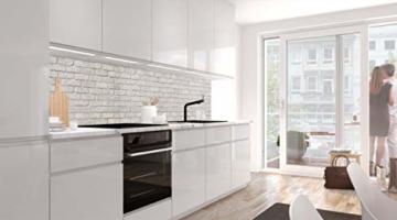 StickerProfis Küchenrückwand selbstklebend - GEKALKTE Wand - 1.5mm, Versteift, alle Untergründe, Hart PET Material, Premium 60 x 80cm - 2