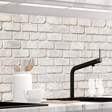 StickerProfis Küchenrückwand selbstklebend - GEKALKTE Wand - 1.5mm, Versteift, alle Untergründe, Hart PET Material, Premium 60 x 80cm - 1