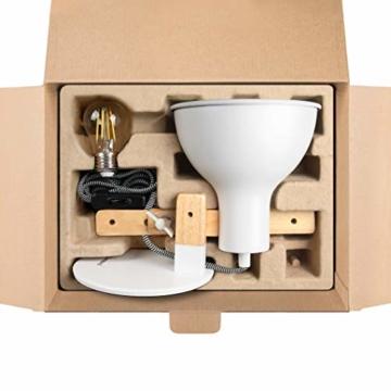 tomons LED Leselampe im klassichen Holz-Design, Schreibtischlampe, Tischleuchte Verstellbare, Lampe mit verstellbarem Arm, Augenfreundliche Leselampe, Arbeitsleuchte, Bürolampe, Nachttischlampe - 7