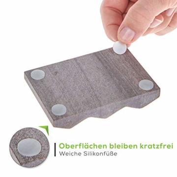 TreeBox Moderne Seifenschale aus natürlichem Sandstein - Inkl. 4 Antirutschfüßen aus Silikon - Perfekt geeignet für Bad und Küche - Umweltfreundliche Seifenablage - 4