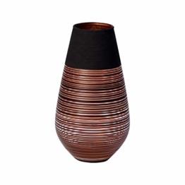 Villeroy & Boch Manufacture Swirl Vase Soliflor, 18 cm, Kristallglas, Schwarz/Bronze - 1
