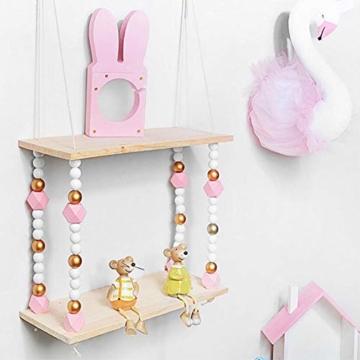voloki Dekorative Wandbehang Regal, Swing Rope Shelf Wandregal schwimmenden Rahmen nach Hause dekorativ - 2