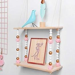 voloki Dekorative Wandbehang Regal, Swing Rope Shelf Wandregal schwimmenden Rahmen nach Hause dekorativ - 1