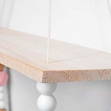 voloki Dekorative Wandbehang Regal, Swing Rope Shelf Wandregal schwimmenden Rahmen nach Hause dekorativ - 6