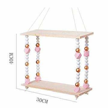 voloki Dekorative Wandbehang Regal, Swing Rope Shelf Wandregal schwimmenden Rahmen nach Hause dekorativ - 7