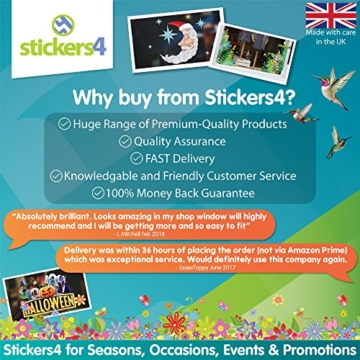Stickers4 Vogel Fensteraufkleber zum Schutz vor Vogelschlag - 6 schöne Schwalbe Glassticker, doppelseitig und selbstklebend zum Schutz vor Vogelkollisionen - 7