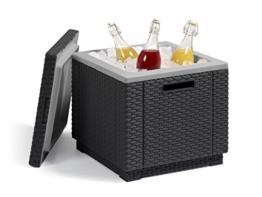 Allibert Beistelltisch/Kühlbox Ice Cube 40 Liter, graphit - 1