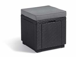 Allibert Cube w Hocker, Graphite/cool Grey (Poly Cotton Cushion) - 1