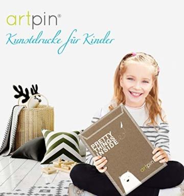 artpin® 4er Set Poster Kinderzimmer - A4 Bilder Babyzimmer - Deko Mädchen (P42) - 5