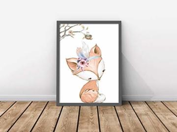 artpin® 4er Set Poster Kinderzimmer - A4 Bilder Babyzimmer - Deko Mädchen (P42) - 7