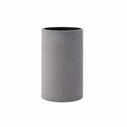 Blomus Coluna Vase, Beton, hellgrau, H 20 cm, Ø 12 cm - 1