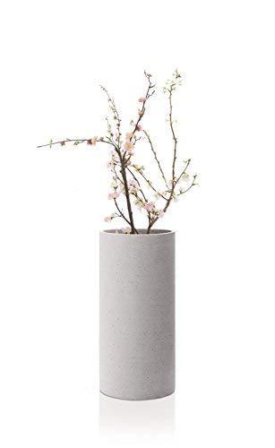 Blomus Coluna Vase, Beton, hellgrau, H 29 cm, Ø 14 cm - 2