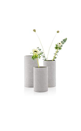 Blomus Coluna Vase, Beton, hellgrau, H 29 cm, Ø 14 cm - 3