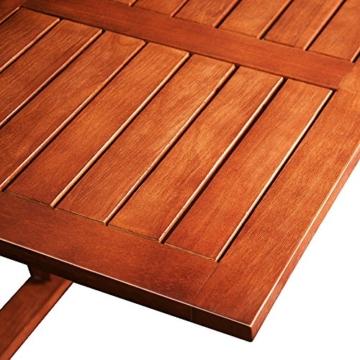 Deuba Balkonhängetisch Klappbar FSC®-zertifiziertes Akazienholz Hängend 64 x 45 cm Balkontisch Hängetisch Balkon Geländer - 6