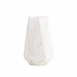 HCHLQLZ 20cm Weiß Marmor Vase Keramik Vasen Blumenvase Deko Dekoration - 1