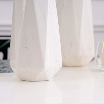 HCHLQLZ 20cm Weiß Marmor Vase Keramik Vasen Blumenvase Deko Dekoration - 8