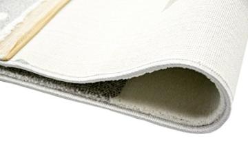 Kinderteppich Spielteppich Teppich Kinderzimmer Babyteppich mit Herz Stern in Rosa Weiss Grau Größe 80x150 cm - 6