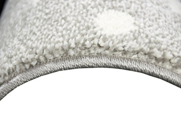 Kinderteppich Spielteppich Teppich Kinderzimmer Babyteppich mit Herz Stern in Rosa Weiss Grau Größe 80x150 cm - 8