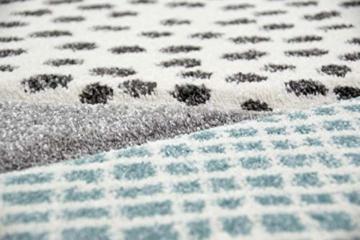 Kinderteppich Teppich Kinderzimmer mit Bergen in Pastel Blau Grau Größe 160x230 cm - 7
