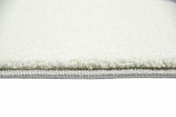 Kinderteppich Teppich Kinderzimmer mit Stern Herz in Lila Grau Creme Größe 140x200 cm - 6