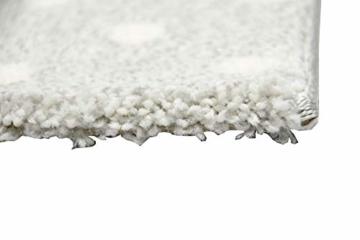 Kinderteppich Teppich Kinderzimmer mit Stern Herz in Lila Grau Creme Größe 140x200 cm - 8