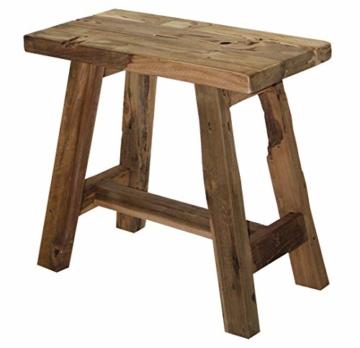 LioLiving®, Hocker West aus recyceltem Massivholz (#400156) - 1