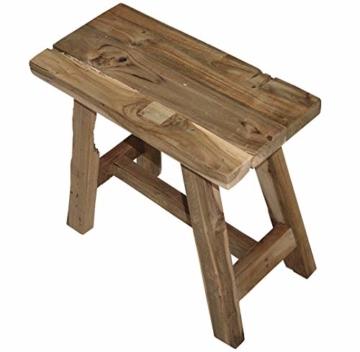 LioLiving®, Hocker West aus recyceltem Massivholz (#400156) - 2